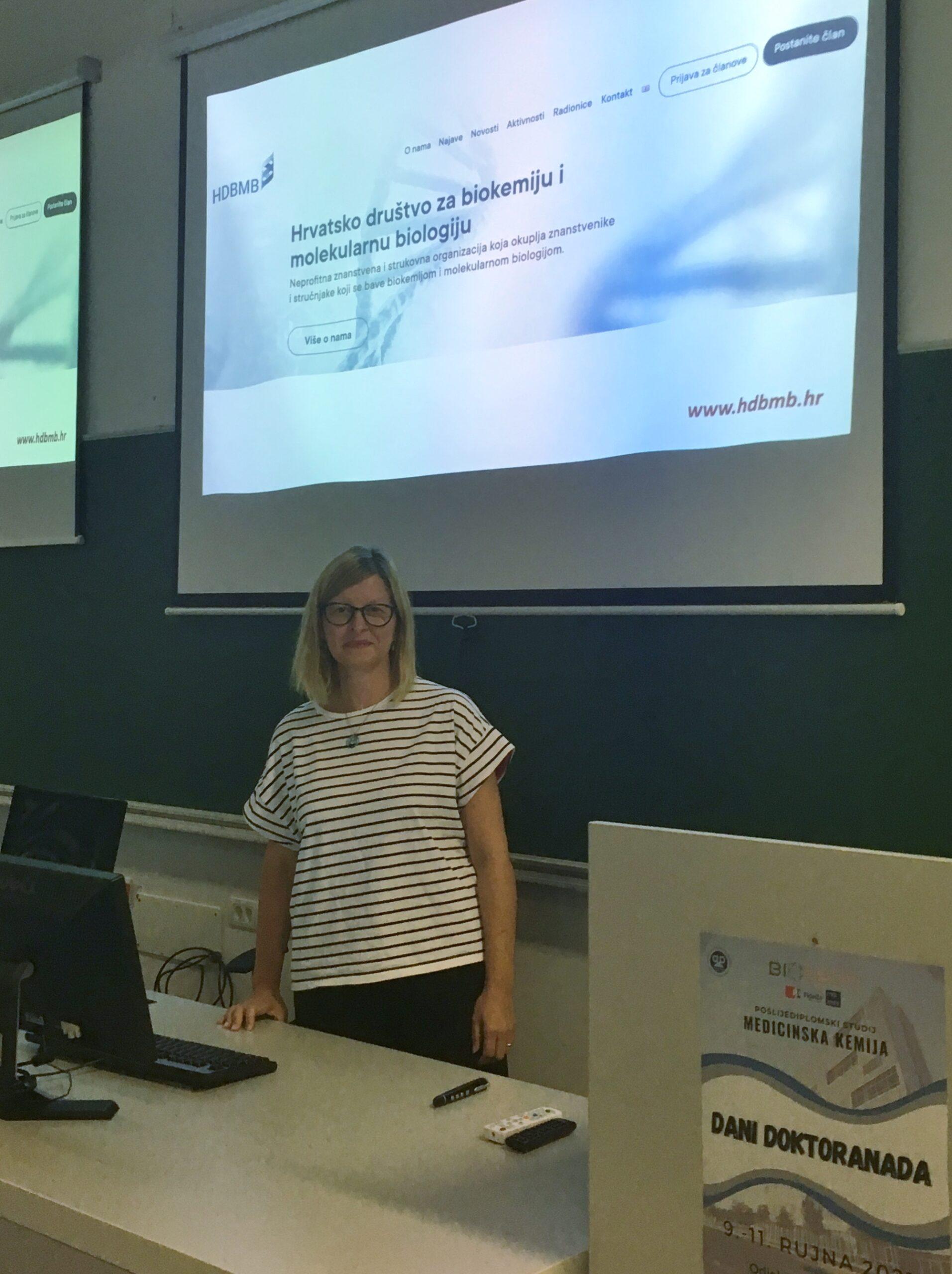 Promocija HDBMB-a u sklopu Dana doktoranda na Odjelu za biotehnologiju Sveučilišta u Rijeci