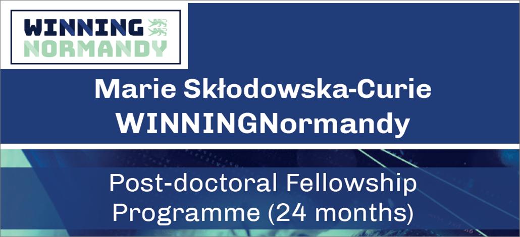 "Applications for postdoctoral fellowships ""Winning Normandy"", Horizon 2020 – Marie Sklodowska-Curie"